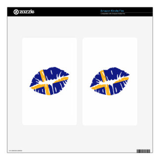 Sweden flag kiss decals for kindle fire