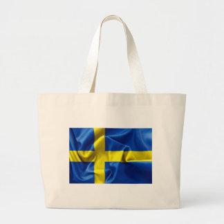 Sweden Flag Large Tote Bag