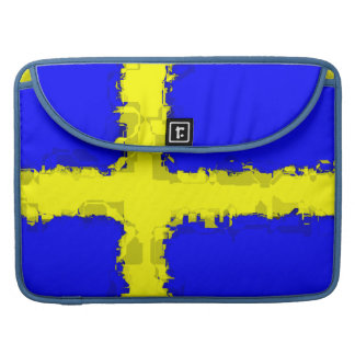 SWEDEN FLAG MacBook Pro Sleeve