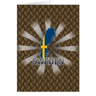 Sweden Flag Map 2.0 Greeting Card