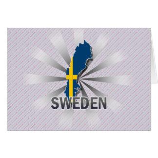 Sweden Flag Map 2.0 Cards