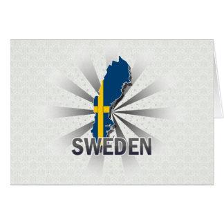 Sweden Flag Map 2.0 Card