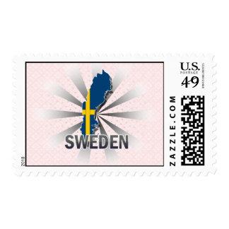 Sweden Flag Map 2.0 Postage