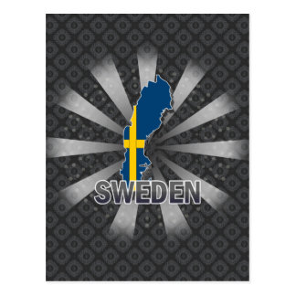 Sweden Flag Map 2.0 Postcard