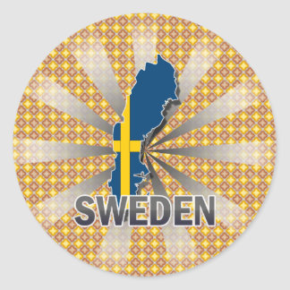 Sweden Flag Map 2.0 Sticker