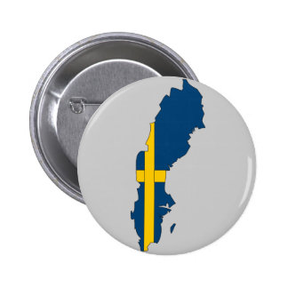 Sweden flag map button
