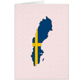 Sweden Flag Map full size Greeting Card