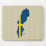 Sweden Flag Map full size Mouse Pad