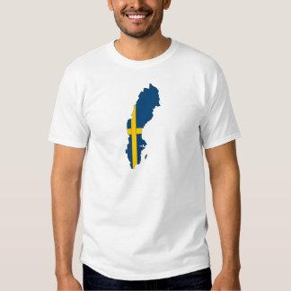 Sweden Flag Map full size Tee Shirt