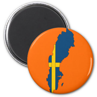 Sweden flag map magnet