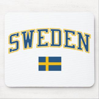 Sweden + Flag Mouse Pad