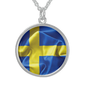 Sweden Flag Pendant Necklace