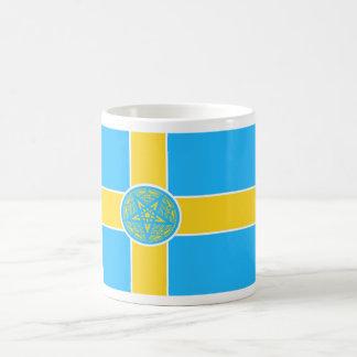 Sweden Flag Pentagram Coffee Mug