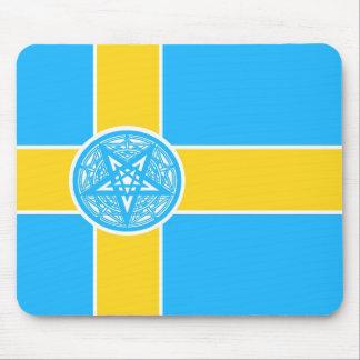 Sweden Flag Pentagram Mouse Pad