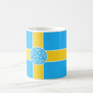 Sweden Flag Pentagram Classic White Coffee Mug