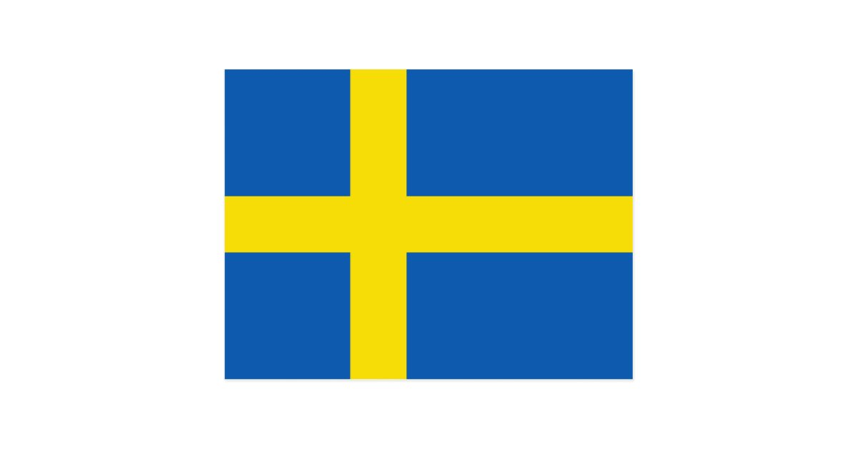 Sweden Flag Postcard Zazzle Com