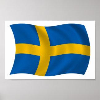 Sweden Flag Poster Print