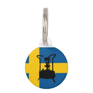 Sweden flag  | Pressure stove Pet ID Tag