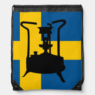 Sweden flag    Pressure stove Drawstring Backpack