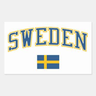 Sweden + Flag Rectangular Sticker