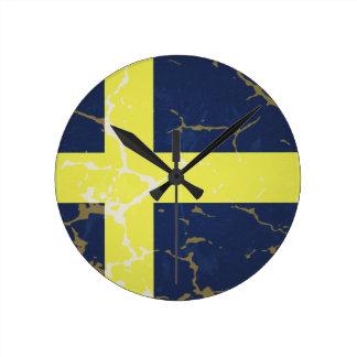 Sweden Flag Round Clock