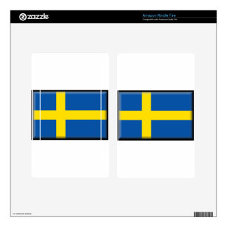 Sweden Flag Kindle Fire Decal