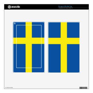 Sweden Flag Skins For Kindle Fire