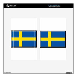 Sweden Flag Kindle Fire Skin