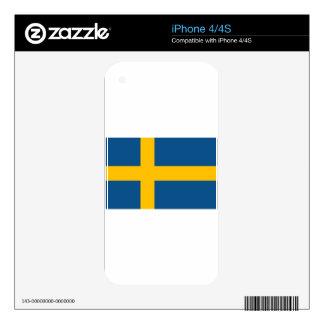 Sweden Flag Skin For iPhone 4S