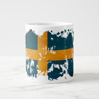 Sweden Flag 20 Oz Large Ceramic Coffee Mug
