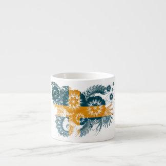 Sweden Flag 6 Oz Ceramic Espresso Cup