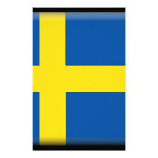 Sweden Flag Customized Stationery
