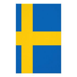 sweden flag stationery paper