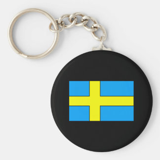 Sweden Flag T-shirts and Gifts Basic Round Button Keychain