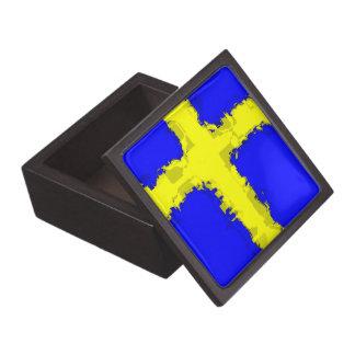 SWEDEN FLAG Trinket Box