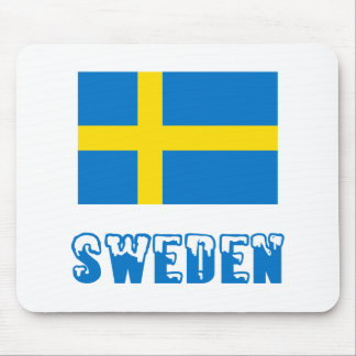 Sweden Flag & Word Mouse Pad