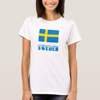 Sweden Flag & Word T-Shirt