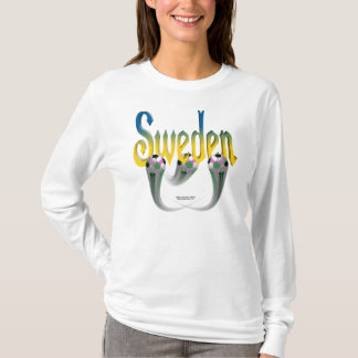 Sweden Football Ladies Long Sleeve Shirt