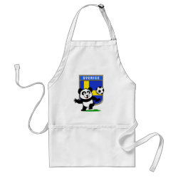 Apron with Swedish Football Panda design