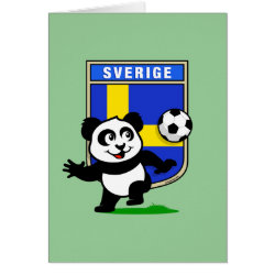 Greeting Card with Swedish Football Panda design