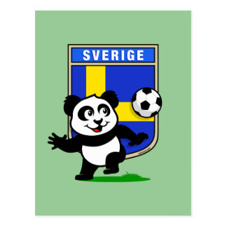 Sweden Football Panda Postcard
