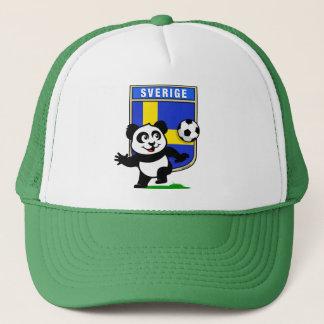 Sweden Football Panda Trucker Hat