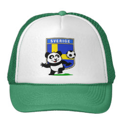 Trucker Hat with Swedish Football Panda design