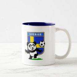 Two-Tone Mug with Swedish Football Panda design