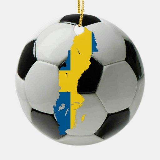Sweden football soccer ornament
