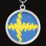 Sweden Gnarly Flag Silver Plated Necklace