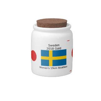 Sweden Gold 2018 - Women's 15km Skiathlon Candy Jar
