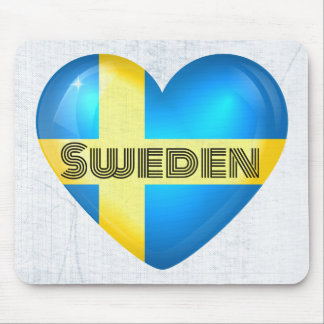 Sweden Heart Flag Mouse Pad