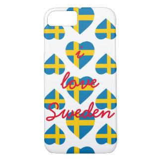 SWEDEN HEART SHAPE FLAG iPhone 8/7 CASE
