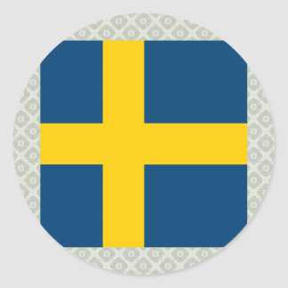 Sweden High quality Flag Round Sticker